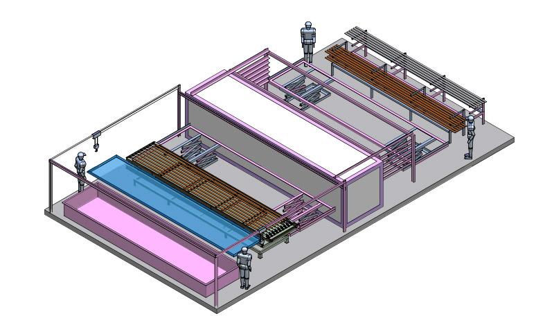 Evo 7 - impianto manuale di verniciatura a polvere industriale